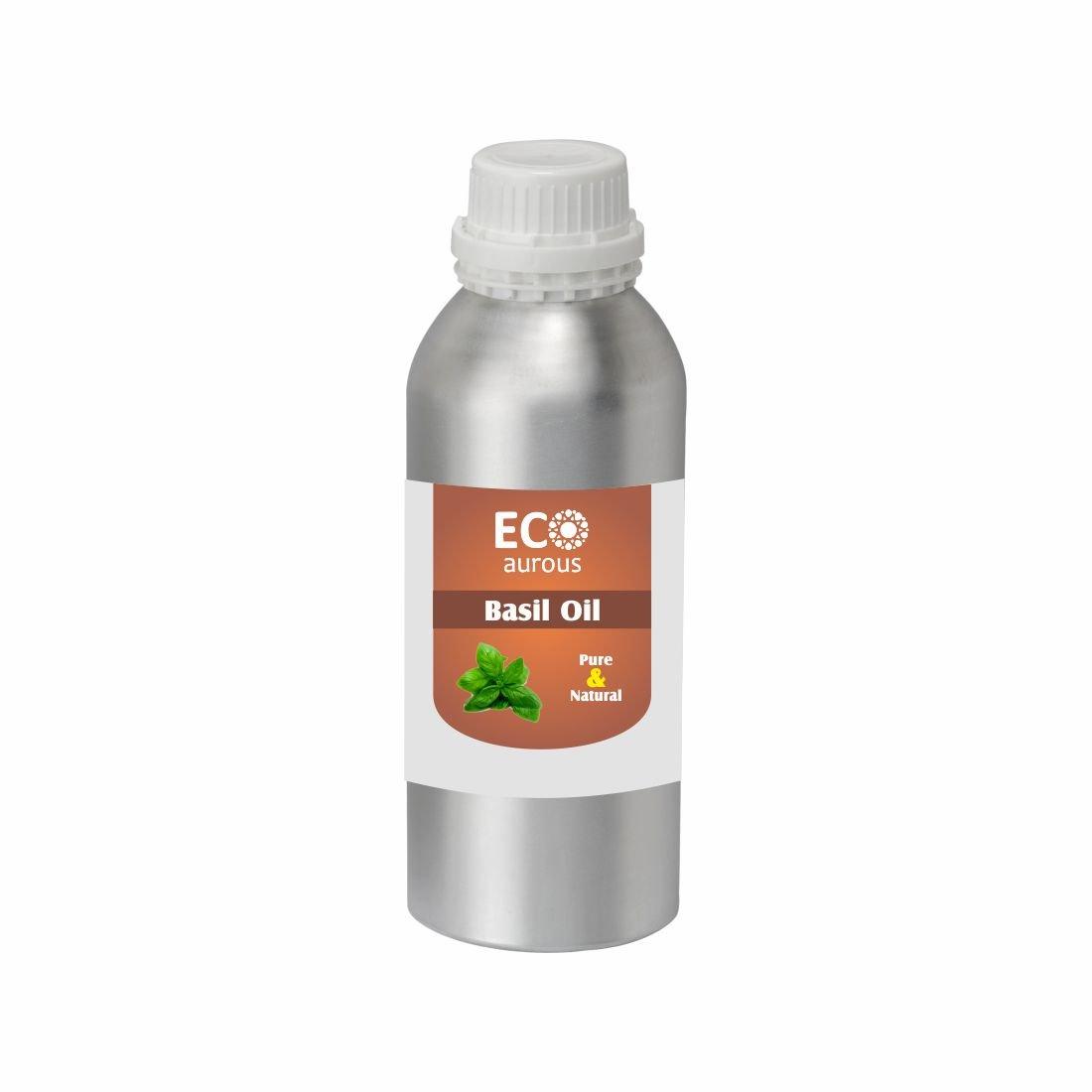 Eco Aurous Basil Oil (Holy Basil Oil) Pure & Natural Essential Oil | Basil Essential Oil | Tulsi Oil | Tulsi Ras | Tulsi Tel | Pure Basil Oil | Indian Basil Oil (10ml (0.33 oz)) Tosc International Pvt. Ltd.