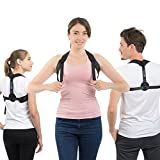 Posture Corrector for Women and Men | Back Brace for Lower Back Pain, Lumbar Support and Shoulder Straightener | Wear it Under Clothes or During Pregnancy | Prevent Scoliosis and Kyphosis | Great GlFT