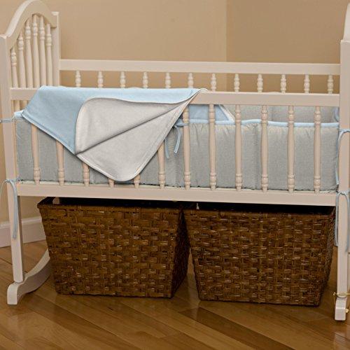 Carousel Designs Light Blue Linen Cradle Blanket