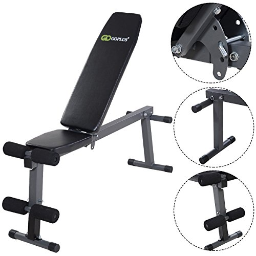 Adjustable Folding Sit Up AB Incline Abs Bench Flat Fly Weight Press Gym by Apontus