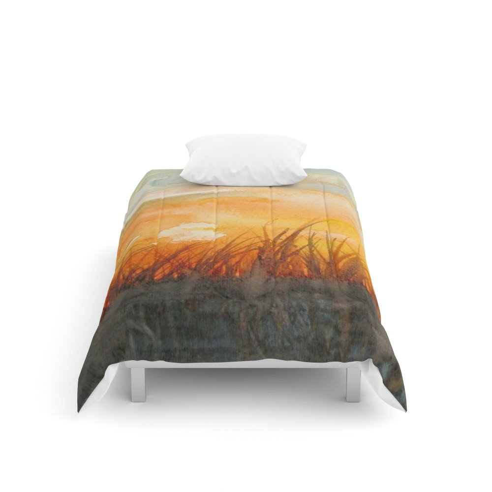 Society6 Crops Dance in the Sunset Comforters Twin: 68'' x 88''