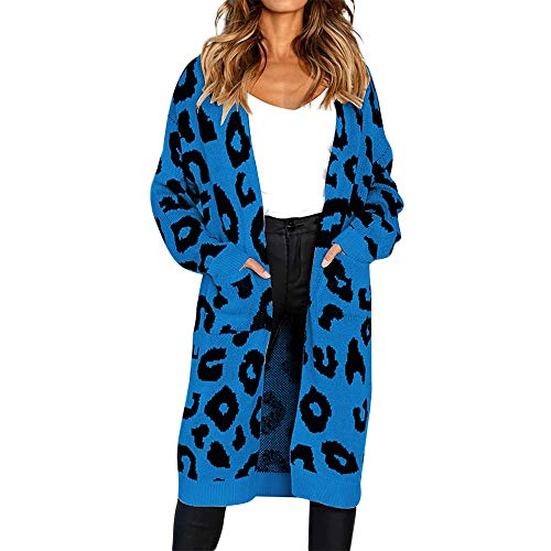 Sales Open Front Leopard Knit Cardigan Jackets AfterSo