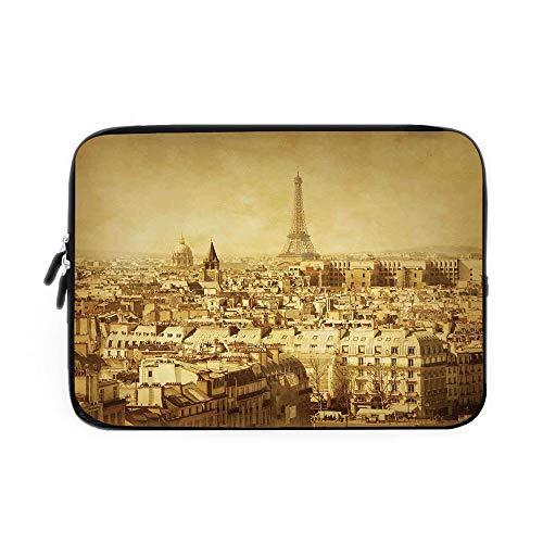 Targa Memory - Eiffel Tower Laptop Sleeve Bag,Neoprene