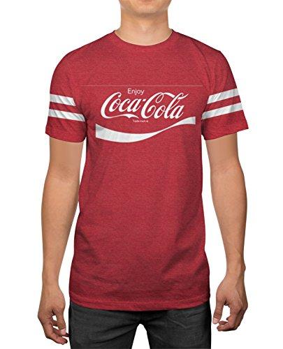(Classic Coca-Cola Coke Logo Mens Red Heather Coca Cola T-Shirt)
