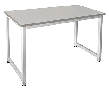 Tsgps bureau de table pc informatique blanc l érable cm