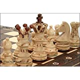 Jeu d'échecs en bois avec mallette - 54 cm
