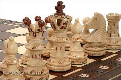 Schach-Set aus Holz, in Kassette, 54 cm de-monte