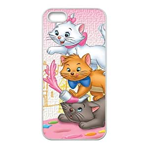 iPhone 5 5s Cell Phone Case Covers White AristoCats NTUHEPB09077 Design Customized Cell Phone Case