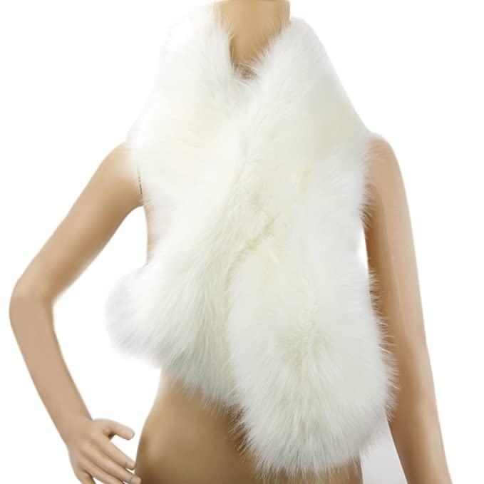 1920s Style Shawls, Wraps, Scarves  Faux Fur Scarf Wrap Collar Shawl Shrug $15.99 AT vintagedancer.com