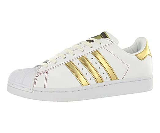 Adidas Men\u0027s Superstar 2 Fashion White/Gold/Red Sneaker - 12 D(M