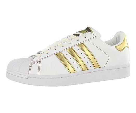 Adidas Men\u0027s Superstar 2 Fashion White/Gold/Red Sneaker - 12 D(M