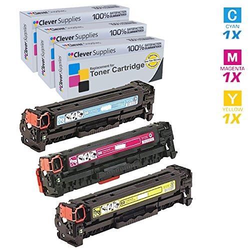Clever Supplies Compatible Toner Cartridges 3 Color Set f...