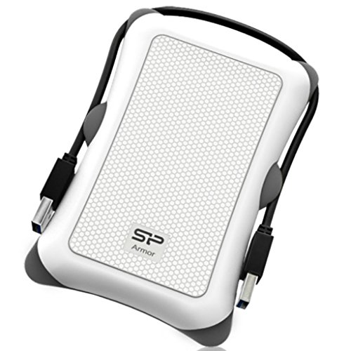 Silicon Power HD Externe 2.5 1 TO USB3 ARMOR A30 Blanc REF SP010TBPHDA30S3W - GAR 3 Ans MADE IN TAIWAN by Silicon Power