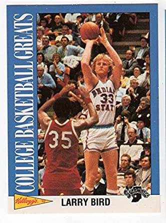 buy online 9c202 54955 Larry Bird Indiana State College Basketball Greats Trading ...