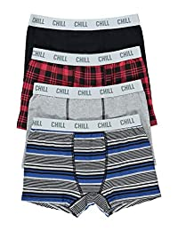 Boys Fun Underwear - Boxer Briefs 4-Pack Size M (10/12)