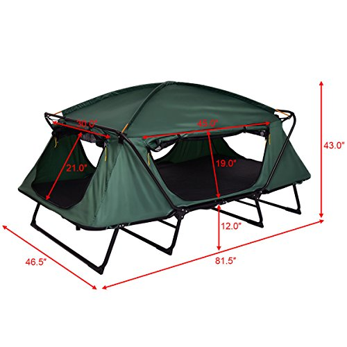 Tangkula Tent Cot Folding Waterproof 2 Person Hiking Elevated Camping Tent with Carry Bag by Tangkula (Image #1)