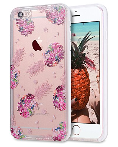 iPhone 8 / iPhone 7 Waterproof Case, LONTECT Crystal Clear Ultra Slim Underwater 360 Full Body Protective Case Dust Proof Snowproof Shockproof Cover for Apple iPhone 8/7 - Pineapple