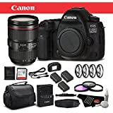 Canon EOS 5D Mark IV Digital SLR Camera 24-105mm f/4L II Lens Bundle 32GB, Extra Batteries, More International Version