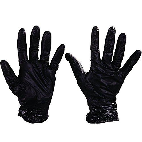 Best GLV2005L Nighthawk Nitrile Gloves Powder-Free, Black, Large (Case of 50)