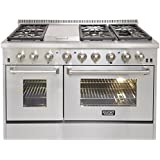 Kucht KRD486F 48 Dual Fuel Freestanding Range with 6 Burners, in Stainless Steel