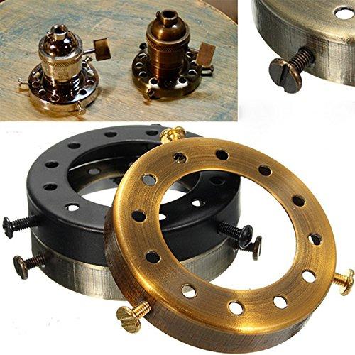 2-1/4Solid Brass Uno Thread Shade Fitter Industrial Retro Pendant Light Holder
