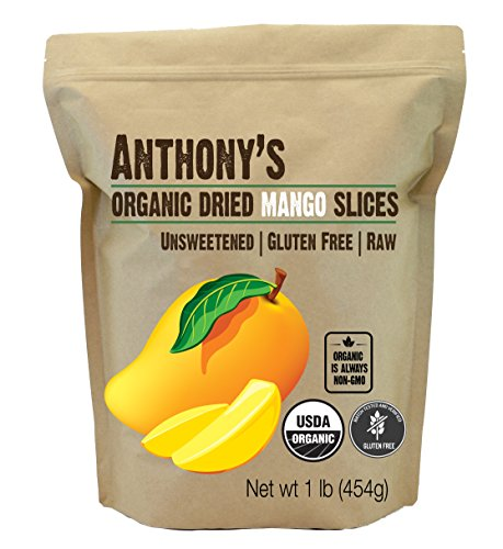 Anthony's Organic Dried Mango Strips