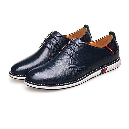 Xujw classiche Scarpe 2018 shoes in uomo lacci EU basse 41 stringate Navy Colore tomaia di pelle vera da pizzo Nero uomo in per con dimensione Scarpe vacchetta YXrYxdZW5w