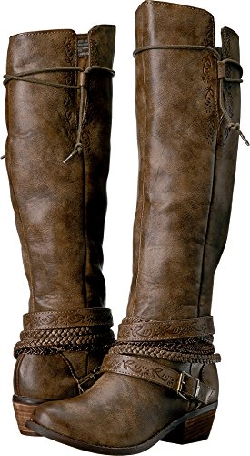 Not Rated Women's Jurupa Riding Boot,Taupe,6.5 M US by Not Rated