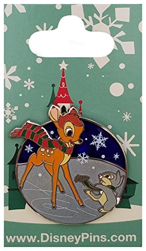Disney Pin - Holiday Bambi & Thumper Falling Snowflakes