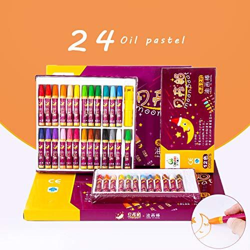Pasteles al óleo 48/36/24 Crayones de colores 48 colores ...