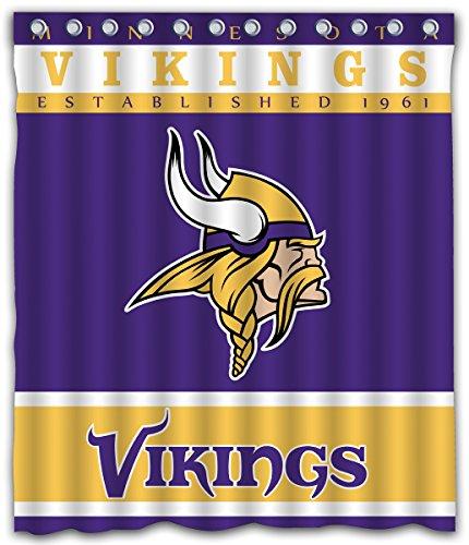 Sonaby Custom Minnesota Vikings Waterproof Fabric shower curtain For Bathroom Decoration (60x72 Inches)