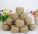 Vibolaa 50M Soft Natural Brown Jute Hessian
