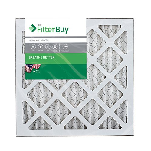 AFB Silver MERV 8 14x14x1 Pleated AC Furnace Air Filter. Pack of 6 Filters. 100% produced in the USA. by FilterBuy (Image #1)