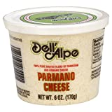 Dell' Alpe Grated Parmano Cheese, 6-Ounce (Pack of 12)