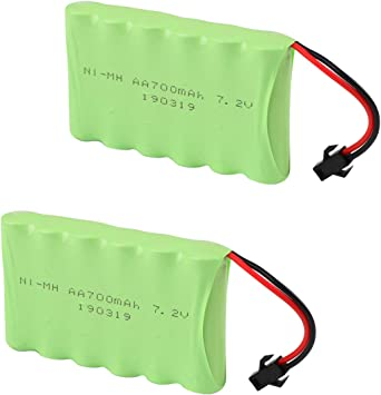 Crazepony-UK 2PCS 7.2V 700mAh Battery Pack with SM Plug for 4WD RC ...