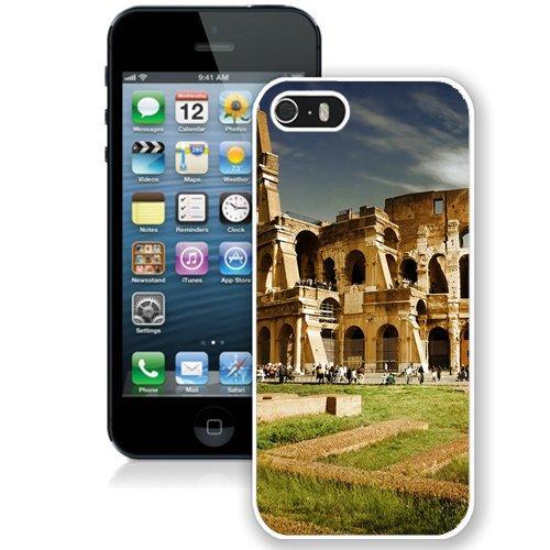 Coque,Fashion Coque iphone 5S Colosseum Italy Architecture blanc Screen Cover Case Cover Fashion and Hot Sale Design
