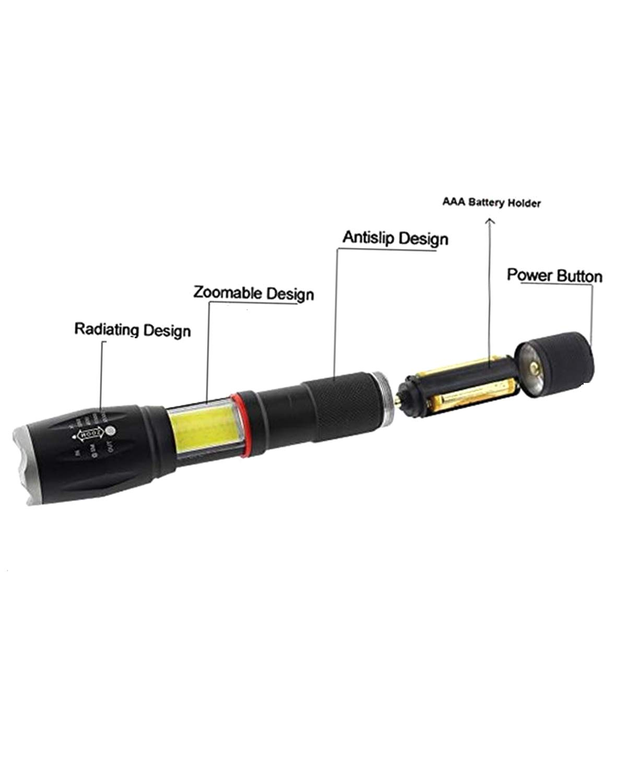 Lantern in-1 Zoom Magnetic Base As Seen On TV Tactical Led Flashlight TotaLohan 2Pcs Military Grade TACLIGHT PRO Flashlight
