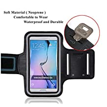 Cell Phone Armband: Best Running Sports Arm Strap Holder Case For Sport Mobile Exercise Workout Band Pouch For Samsung Galaxy S6/S6 Edge/S7/M9(Black)