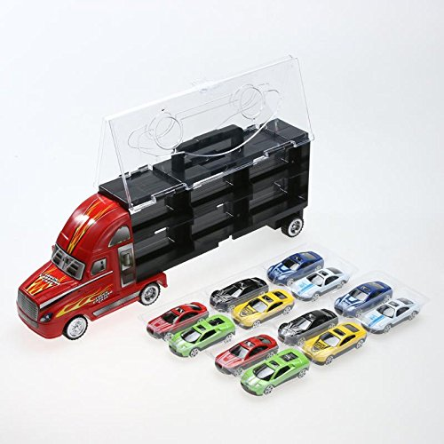 vinmax Truck Sets Alloy Transport Car Carrier Toys 13 Pcs / Set Children Birthday New Years Gaming Play Toys Gifts by vinmax (Image #5)