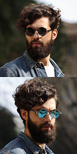 Ronsou Steampunk Style Round Vintage Polarized Sunglasses Retro Eyewear UV400 Protection Matel Frame 6