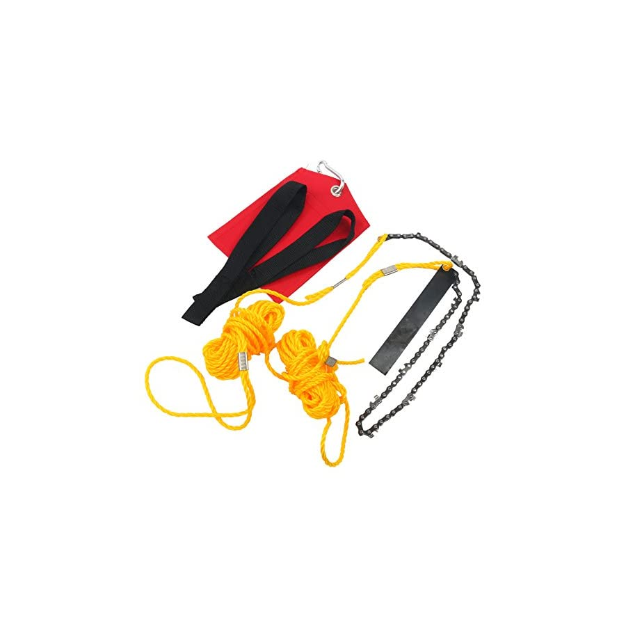 YaeTek Rope and Chain Saw 24 Inch High Reach Limb Hand Chain Saw Comes with Ropes, Throwing Weight Pouch Bag (24 Inch)