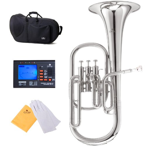 Cecilio 2Series AH-280N Eb Alto Horn with Stainless Steel Valves, Nickel