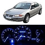 blue 9500 lights for a car - Partsam 22Pcs LED Blue Lights Instrument Indicator Package Kit For 95-00 Dodge Stratus