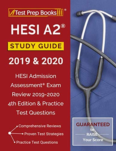 HESI A2 Study Guide 2019 & 2020: HESI Admission Assessment Exam Review 2019-2020 4th Edition & Practice Test Questions (Best Pharmacology Flash Cards Step 1)