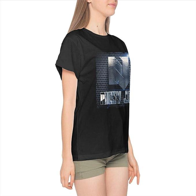Nicky Jam - Camiseta de Manga Corta para Mujer - Negro ...