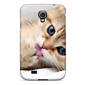 JamsCFlag Case Cover Protector Specially Made For Galaxy S4 Mmmmy Paw Tastes Good