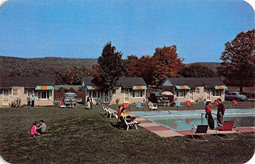 Echo Lake Pennsylvania Lodge Pool View Vintage Postcard K67042