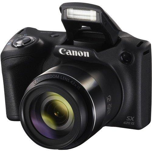 Canon PowerShot SX420 Digital Camera w/42x Optical Zoom - Wi-Fi & NFC Enabled (Black) - Deal-Expo Bundle