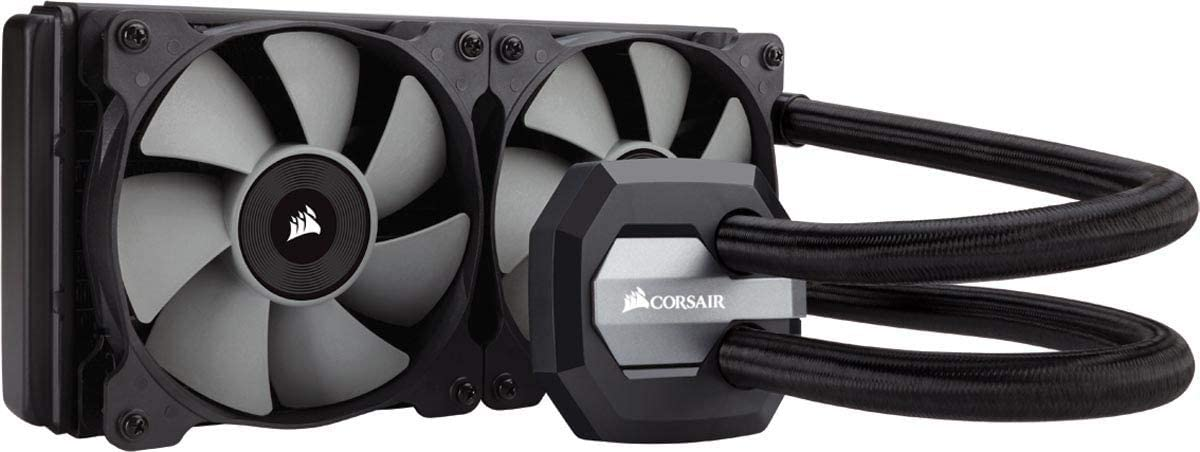 CORSAIR Hydro Series H100i v2 AIO Liquid CPU Cooler, 240mm Radiator, Dual 120mm PWM Fans, Advanced RGB Lighting and Fan Software Control