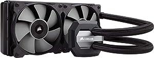 CORSAIR Hydro Series H100i v2 AIO Liquid CPU Cooler, 240mm Radiator, Dual 120mm PWM Fans, Advanced RGB Lighting and Fan Software Control